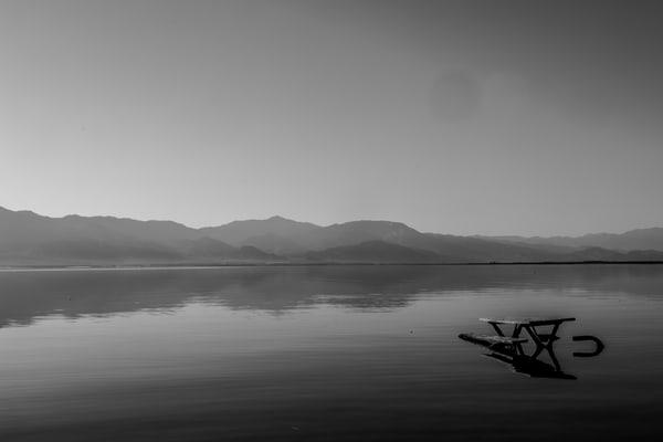 Black and White Salton Sea Print