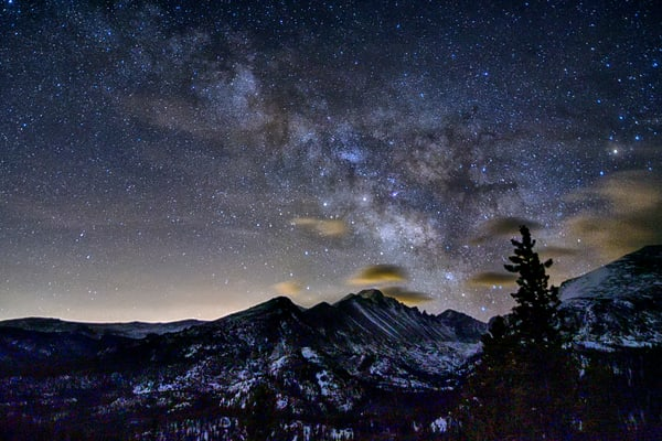 Night Sky over Rocky Mountain National Park