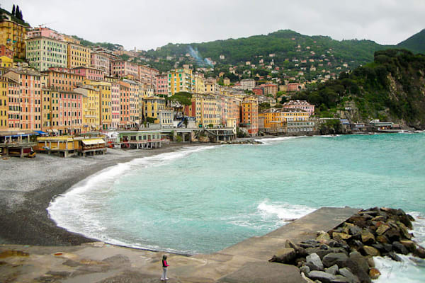 Camogli seaside photograph by Ivy Ho for sale as Fine Art.