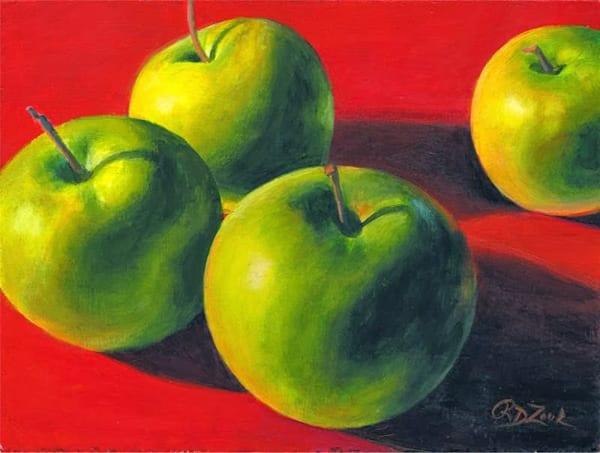 Green Apples Original Painting