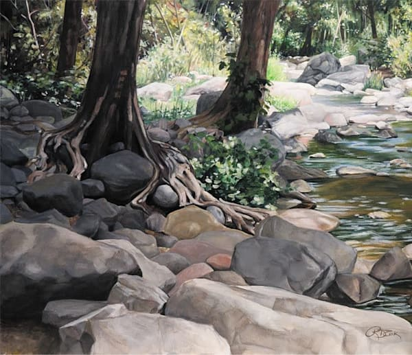 River Rocks Original Painting
