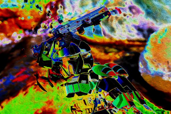 Choku Rei, The Reiki Trooper  Art   Oz Fine Art Studio