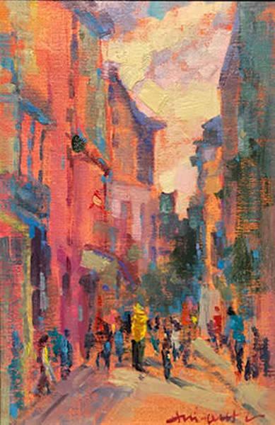 Street Scene Cuba by Hai-ou Hou