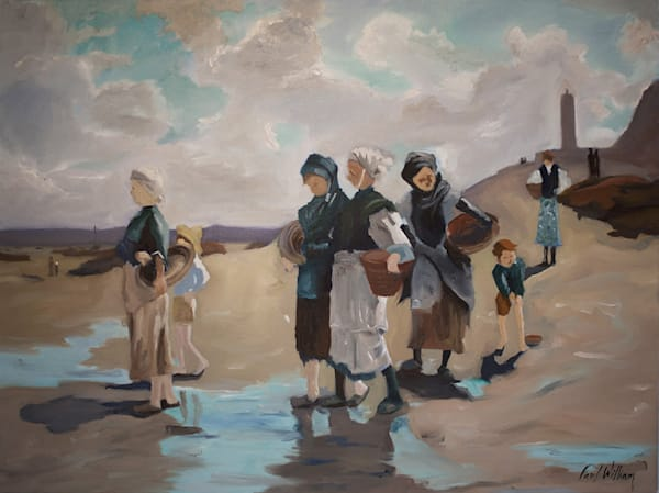 Fishing for Oysters at Concale by Paul William | Fine Art for Sale