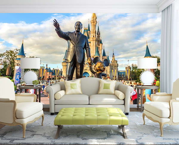 Walt and Mickey - Disney Mural | William Drew Photography