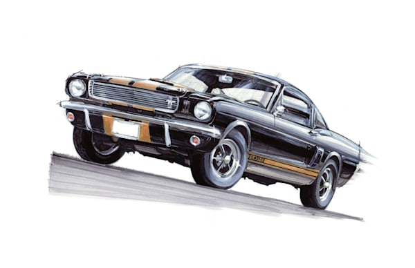 Shelby Gt350 Mustang art, paintings drawings by Noelle Dumas,
