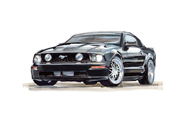 Shelby Gt Mustang art, paintings drawings by Noelle Dumas,