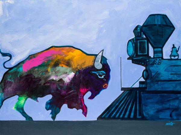 A New Kind Of Tracks On The Horizon   John Nieto Art Reproduction