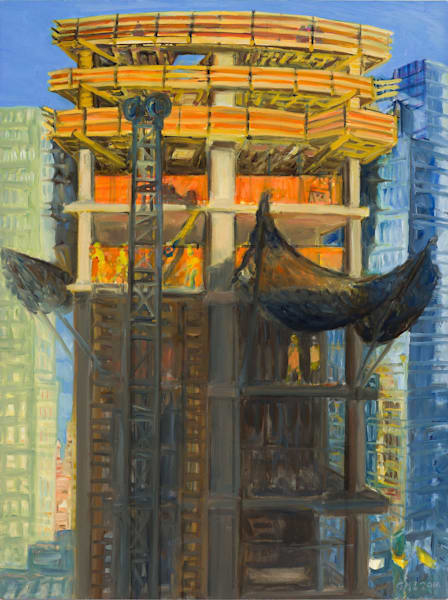 """18th Floor Rising, Late Afternoon 2016, 24"""" x 18"""""""