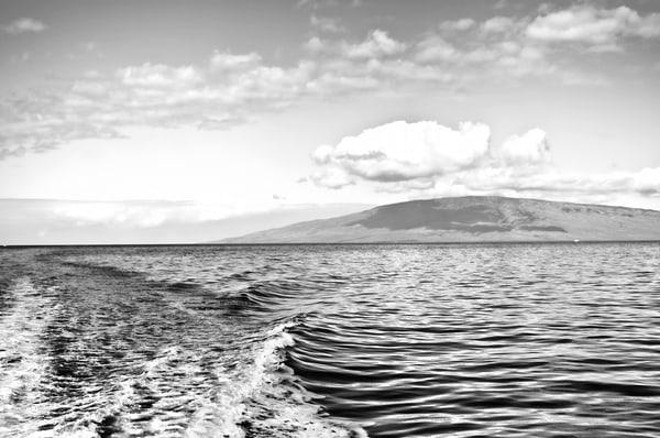 Cloud Over Molokai BW
