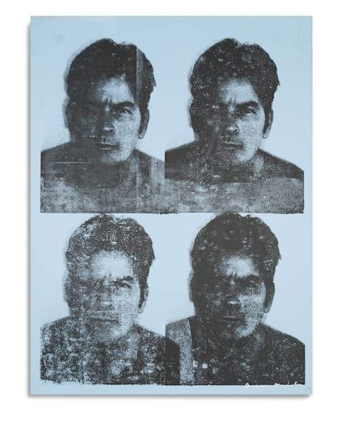 Mugshot Charlie Sheen Light Blue