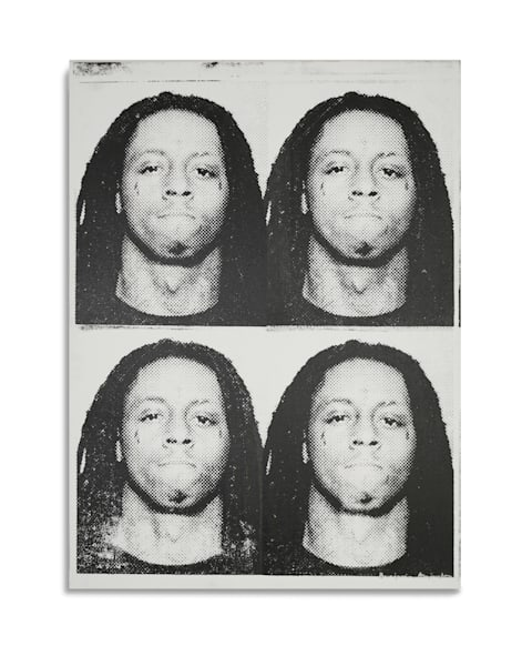 Mugshot Lil Wayne Black White