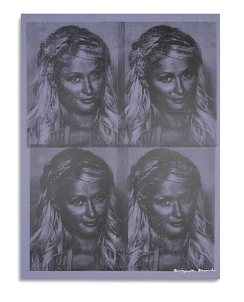 Mugshot Paris Hilton Purple