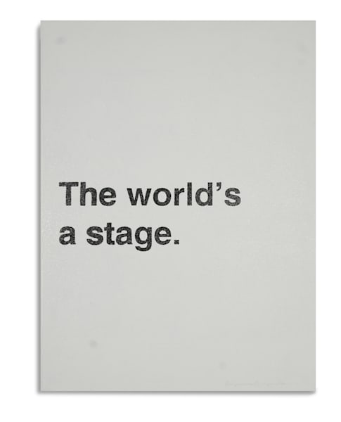 The Worlds a Stage