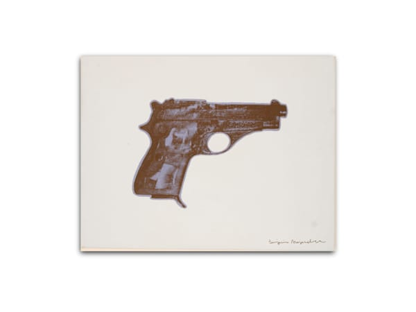 Untitled Elvis Presley Gun Blue Black White
