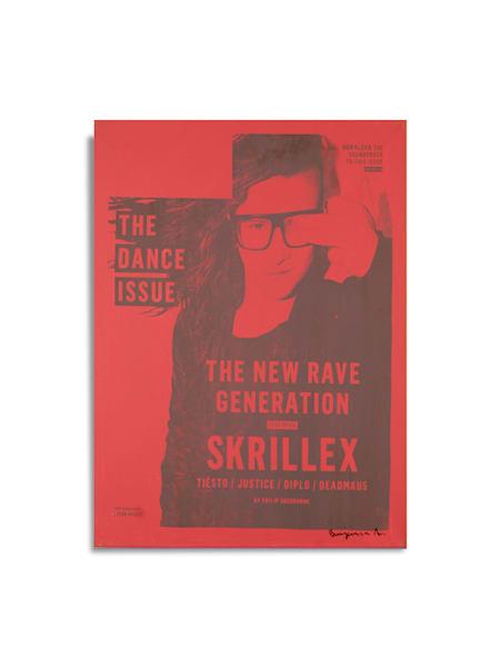 Untitled Skrillex Blue Red