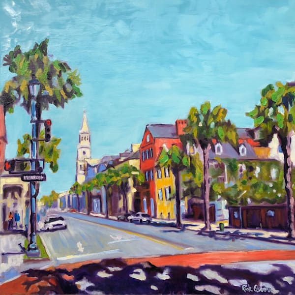 Stop on King and Broad Street Charleston | Fine Art Oil Painting by Rick Osborn