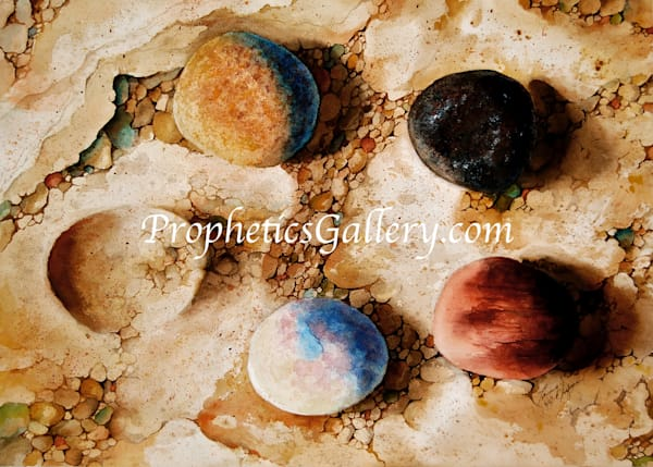 """Five Stones"" by Thomas Seagrave Chapman 