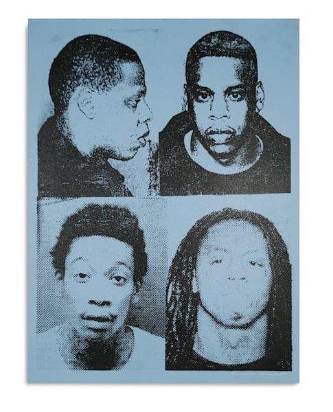 Mugshot Jay Z Wiz Lil Wayne Light Blue