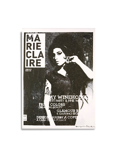 Untitled Amy Winehouse Marie Claire White+Black
