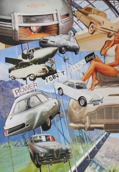 Power Isn't Everything by Laurie Rosenberg a mixed media artist.