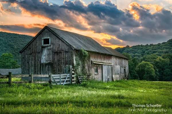 Kent Connecticut rural landscape and old barn/Countryside classic fine art print by Thom Schoeller