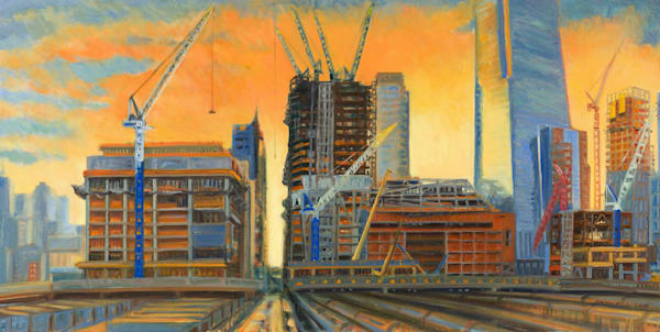 Hudson Yards Construction painting