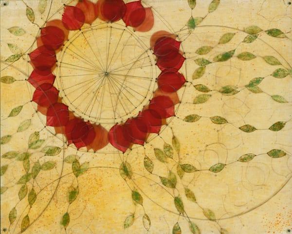 Red Dream Catcher Art | Karen Sikie Paper Mosaic Studio