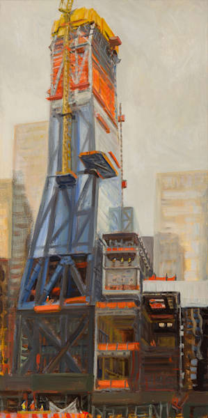 """53W53 from 53rd St, October Afternoon 2017, 36"""" x 18"""""""