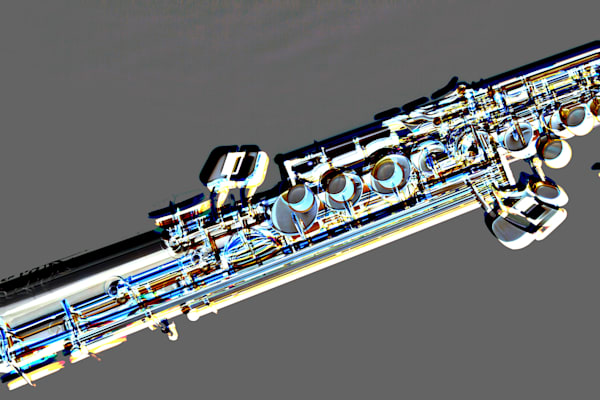 Metal Art PIcture of Soprano Saxophone 3341.102
