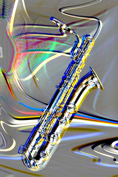 Baritone Saxophone Metal Art Image 3459.102