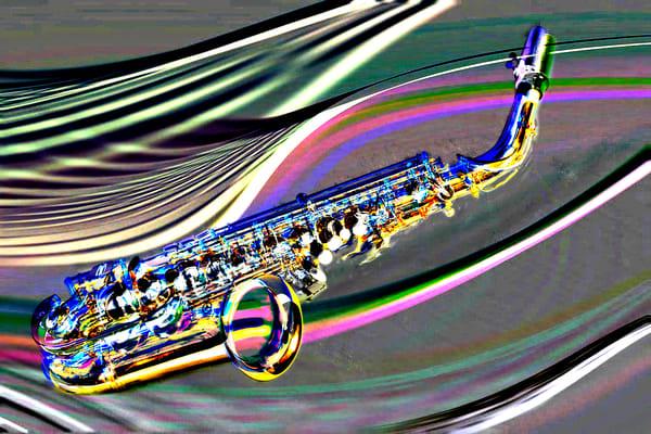 Metal Art Saxophone in Space 3251.102