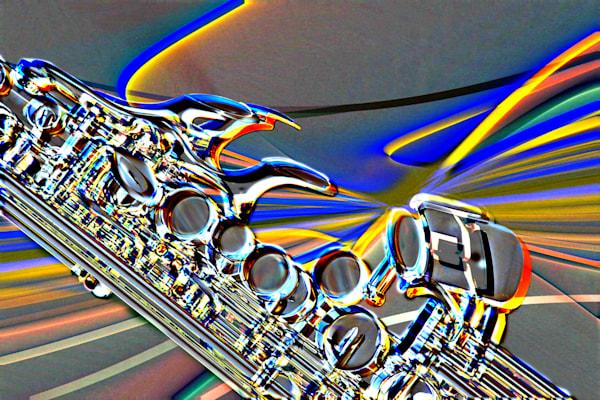 Modern Soprano Saxophone Image Metal Art 3344.102