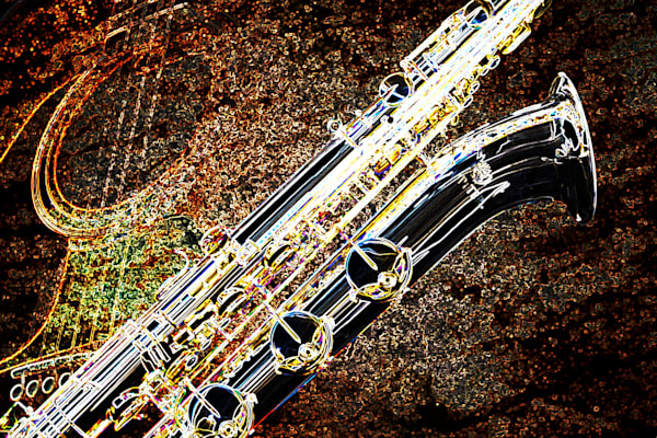Baritone Sax Dark Drawing 3462.02