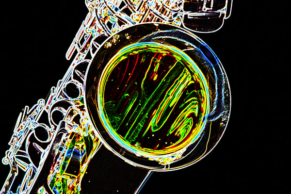 Metal Art Drawing Saxophone Bell 3267.02