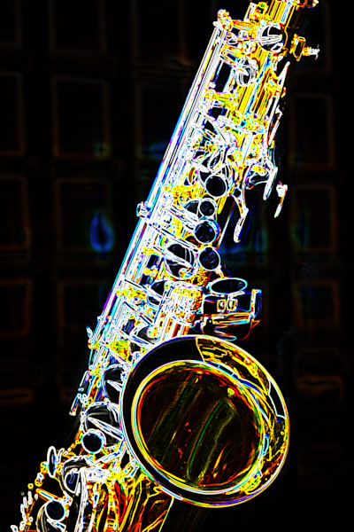 Jazz Tenor Saxophone Dark Drawing 3252.02