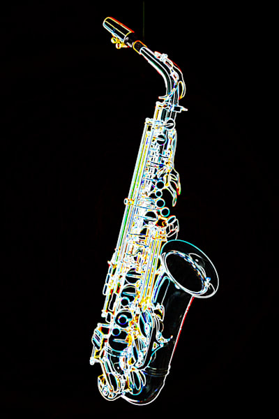 Saxophone Dark Drawing 4360.03