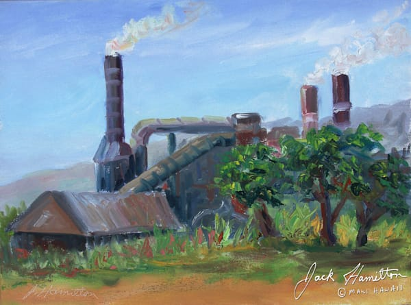"#1924 ""AT PU'UNENE SUGAR MILL"""