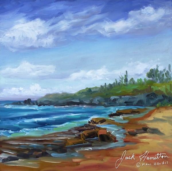 "#1927 ""Hookipa Waves, Reef and Sand"""