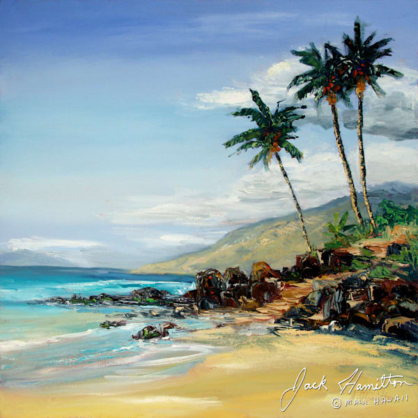 "#1386 ""MAUI PALMS WITH TURQUOISE WAVE"""