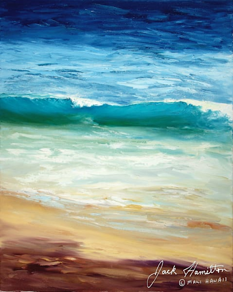"#1326 ""TURQUOISE WAVE AT KAPALUA"""