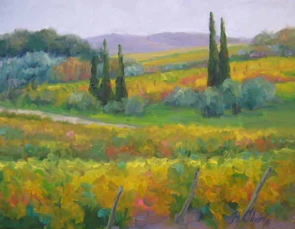 October Vineyards Art | B. Oliver, Art