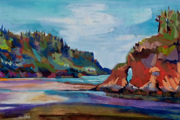 landscape painting oregon coast lincoln city
