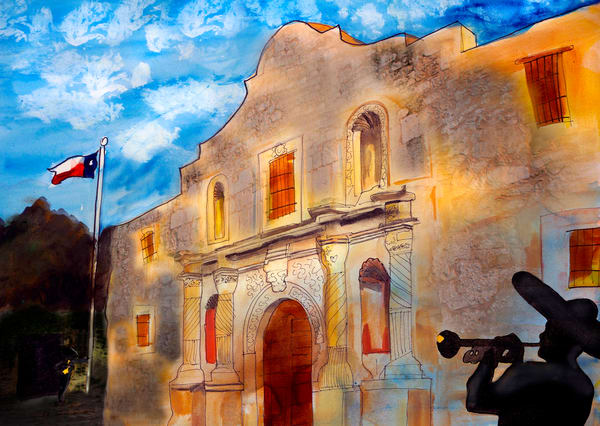 Mariachis At The Alamo Art | William K. Stidham - heART Art