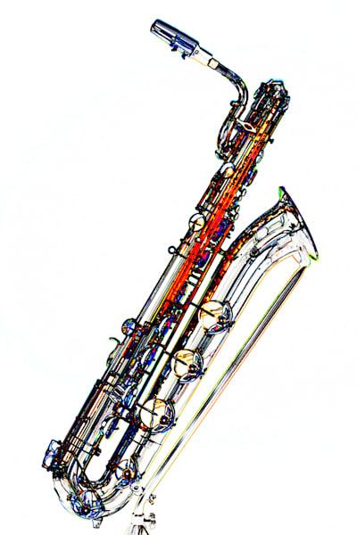 Baritone Saxophone Watercolor Print 3463.602