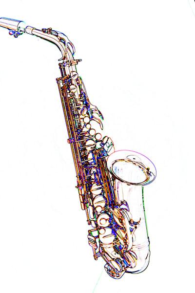 Jazz Saxophone Watercolor Print 3271.602