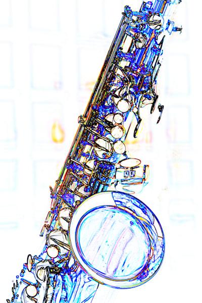 Jazz Tenor Saxophone Print 3252.602