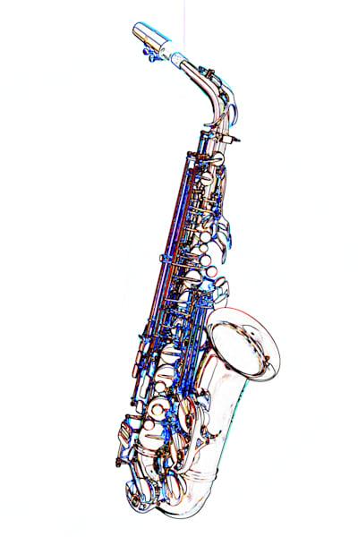 Saxophone Watercolor Print 4360.602