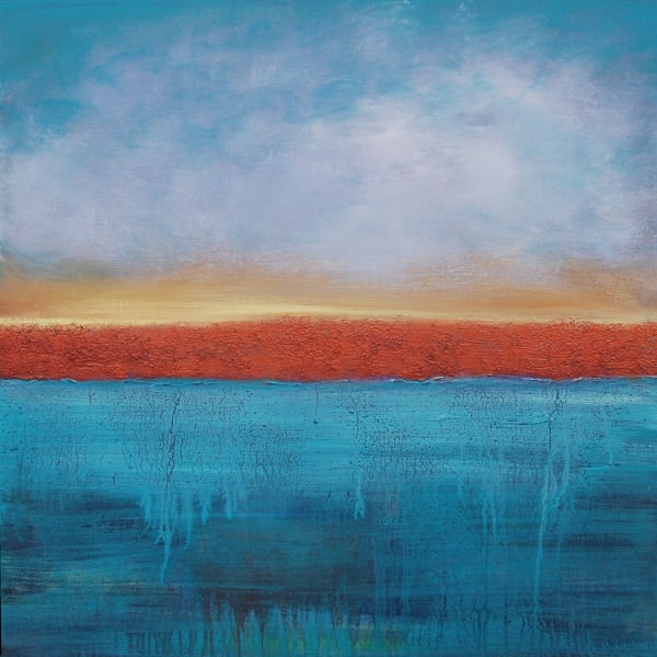 Abstract painting Sun's Promise by Andrea Cermanski
