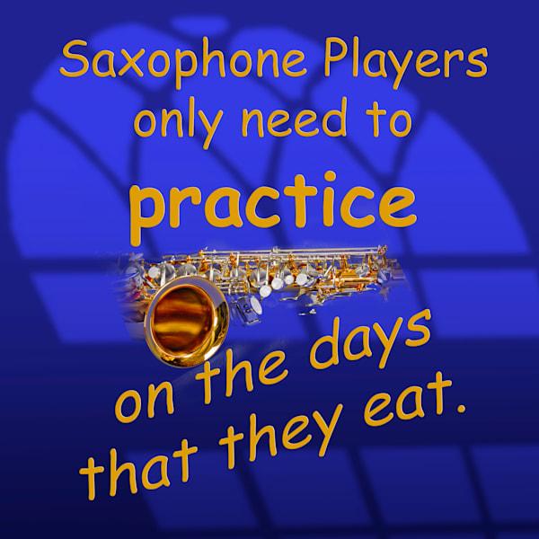 Saxophone Practice Sax Poster 110